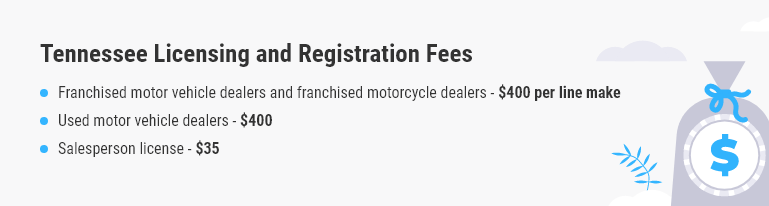 Tennessee dealer license fees