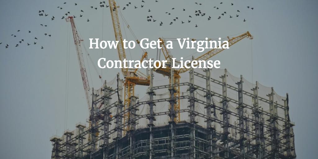 Virginia Contractor License