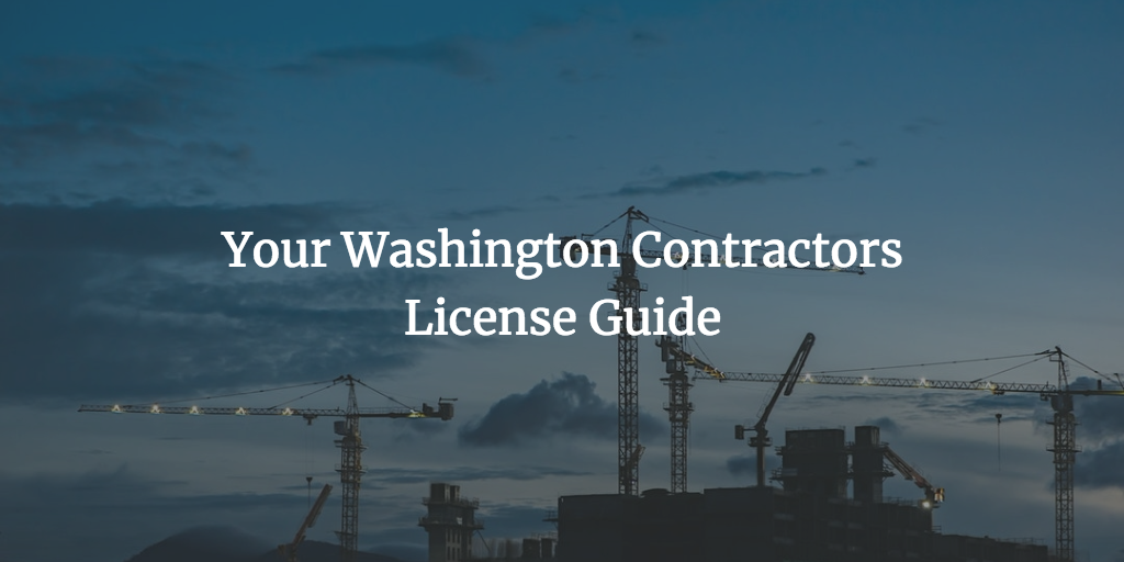 Washington contractors license