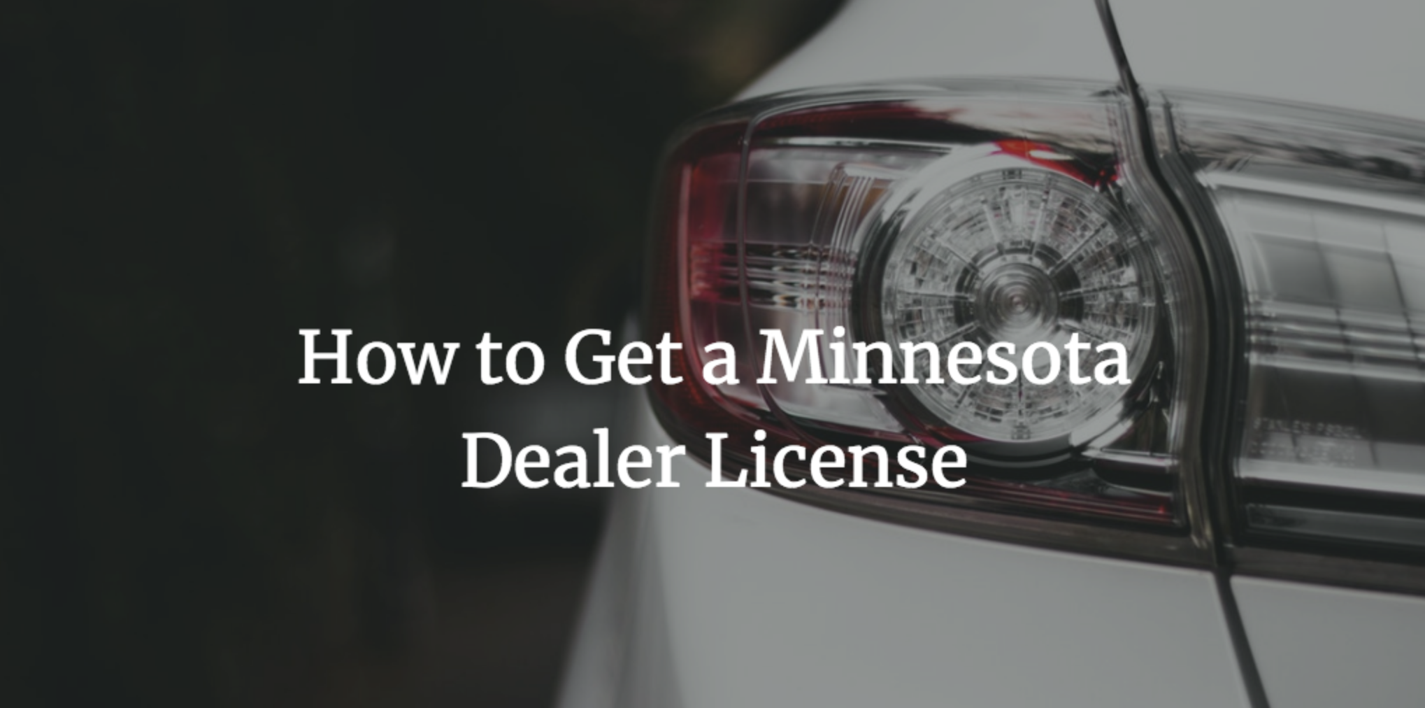 how to get a minnesota dealers license