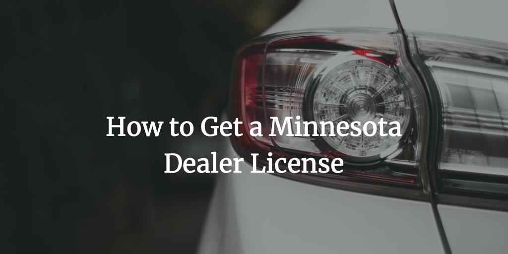 minnesota dealer license