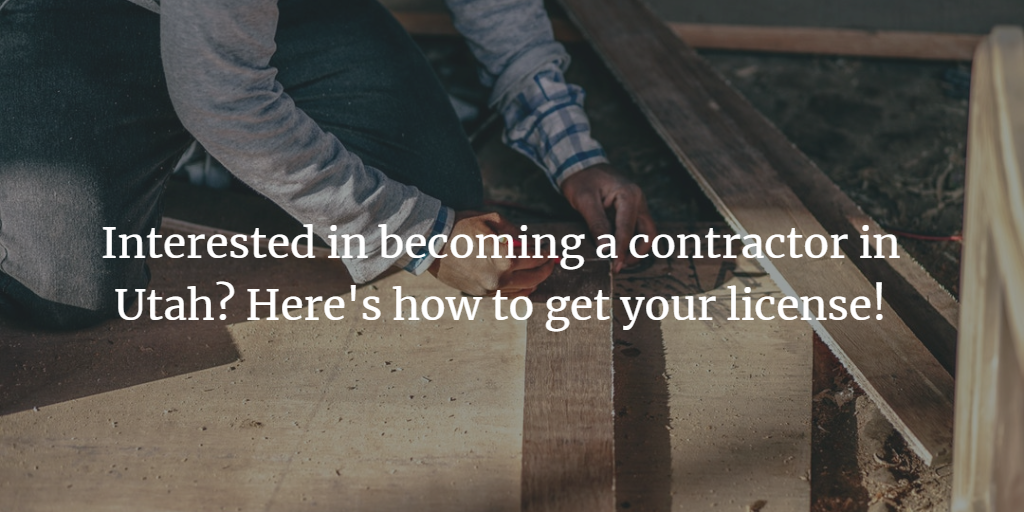 Utah Contractors License