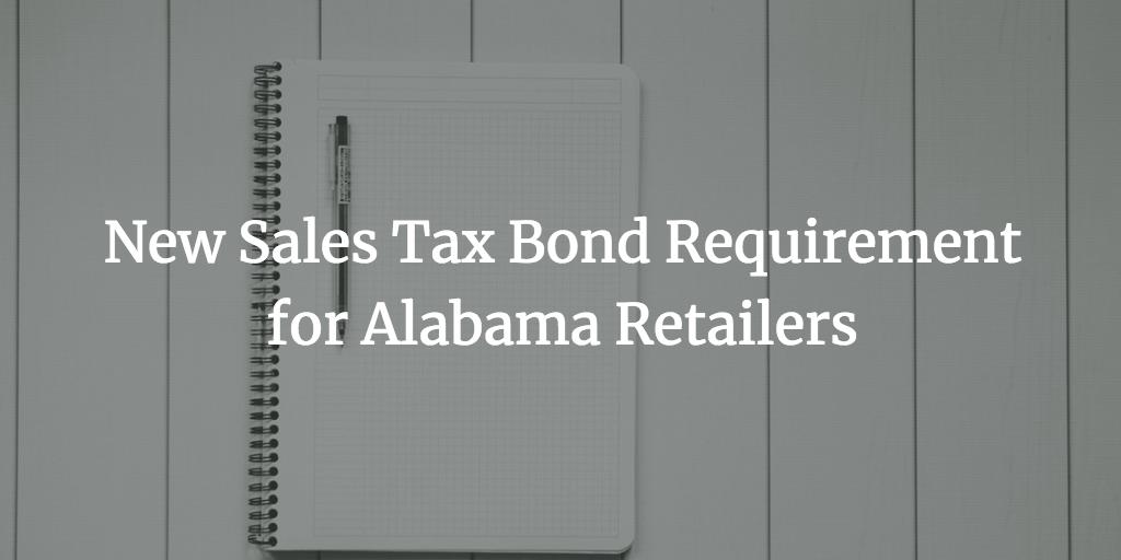 alabama retailers sales tax bond