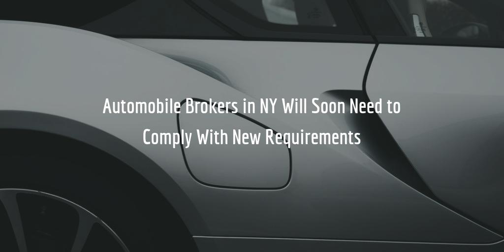 NY Automobile Broker Bond Increase