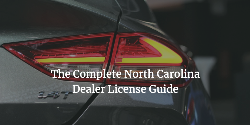 north carolina dealer license