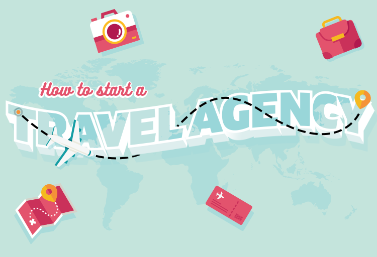 how to start a travel agency infographic