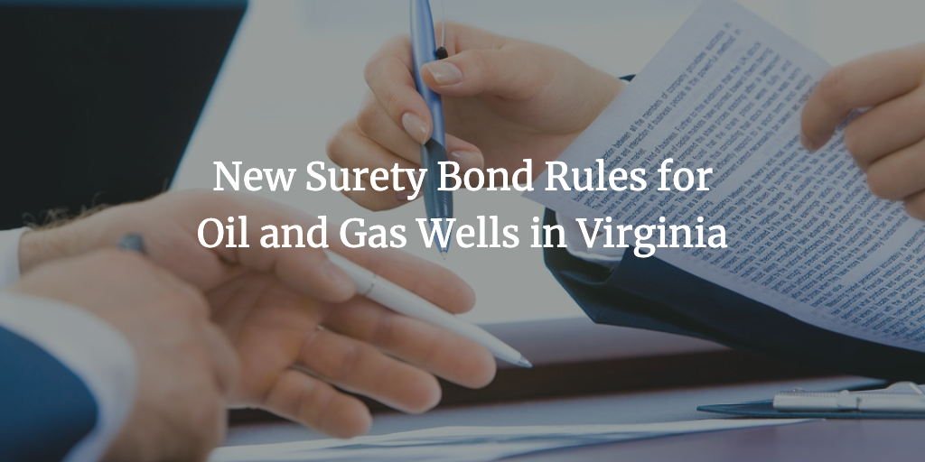 oil and gas wells bond virginia