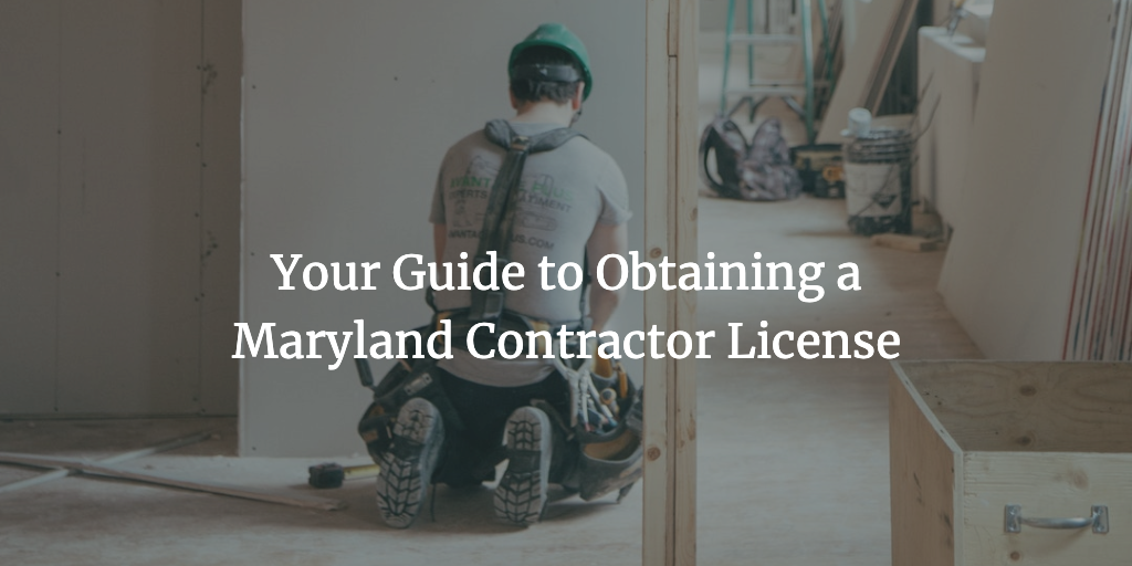 maryland contractor license