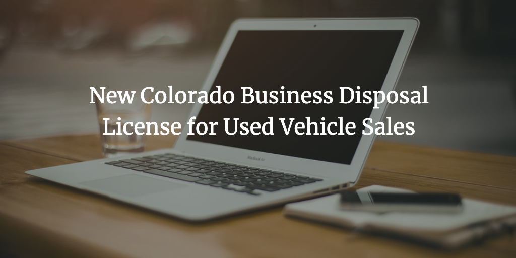 colorado business disposal license