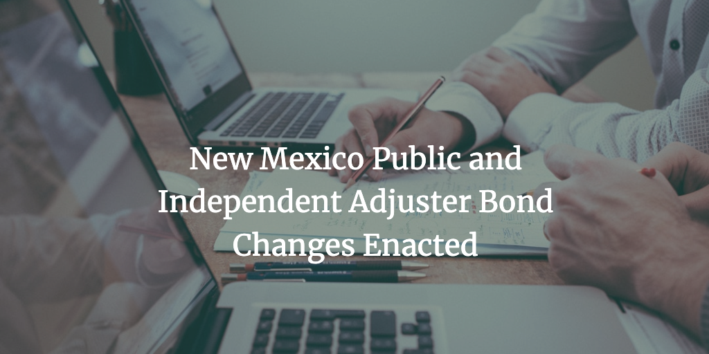 new mexico public adjuster bond