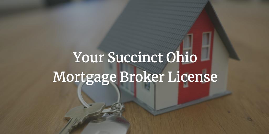 ohio mortgage broker license