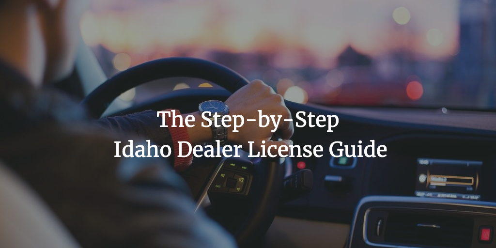 idaho dealer license