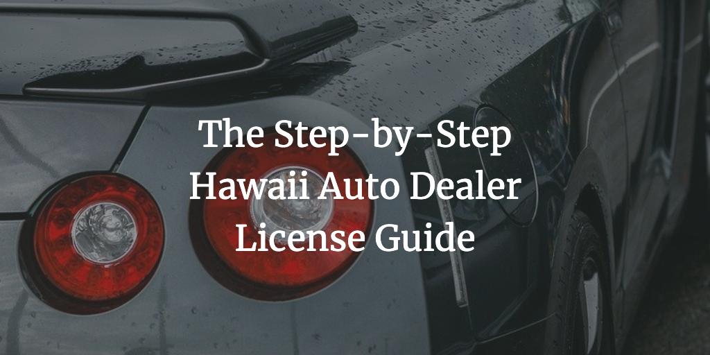 hawaii auto dealer license
