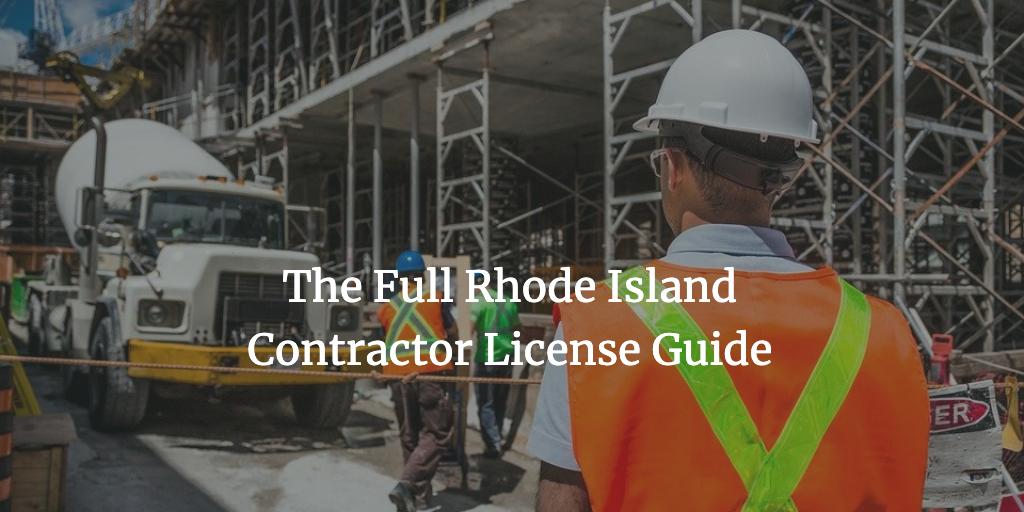 rhode island contractor license