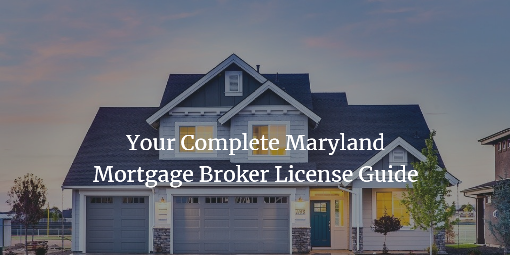 maryland mortgage broker license