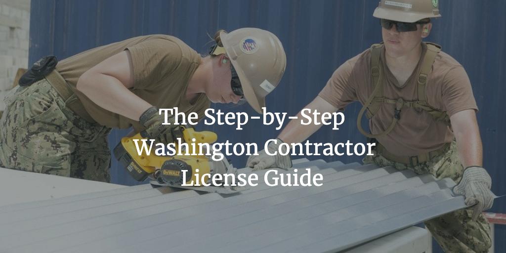 washington contractor license