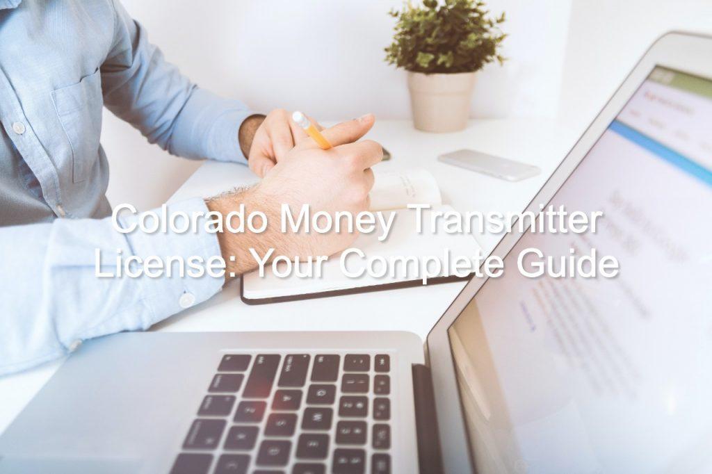 colorado money transmitter license