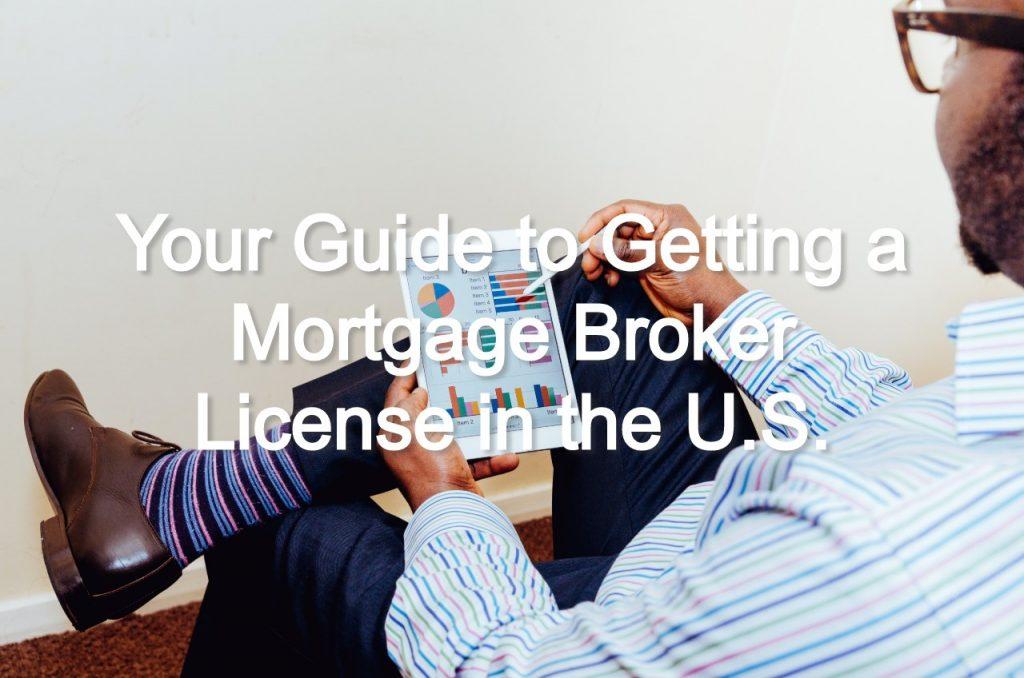 mortage broker license