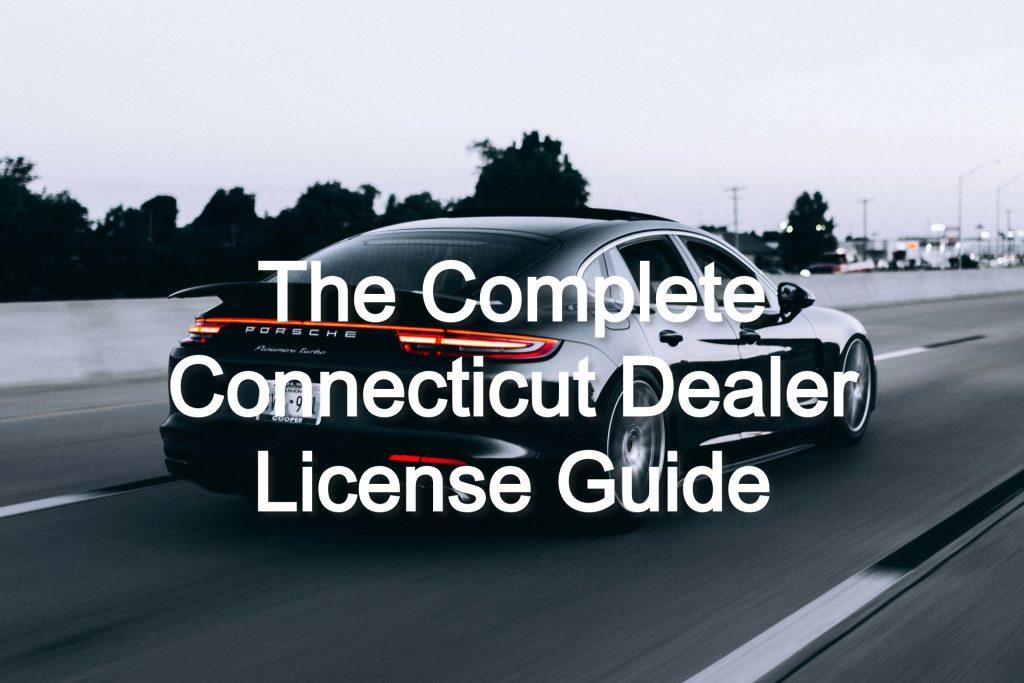connecticut dealer license
