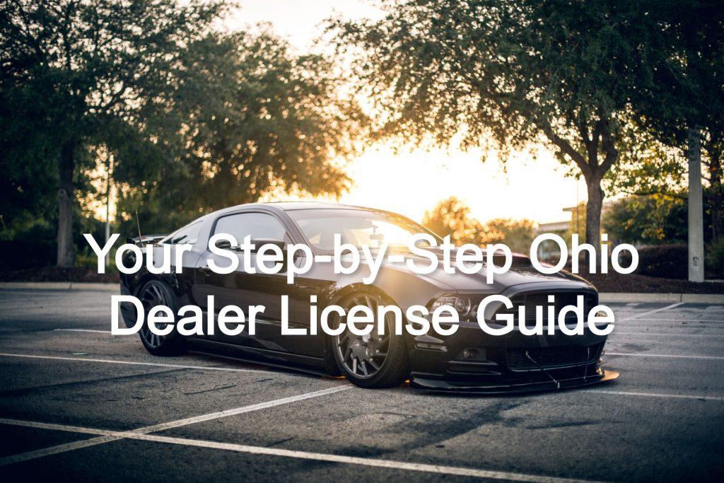 ohio dealer license