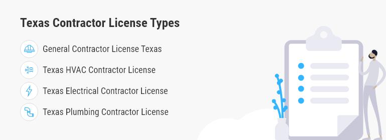 texas contractor license types