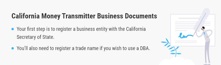california money transmitter business documents